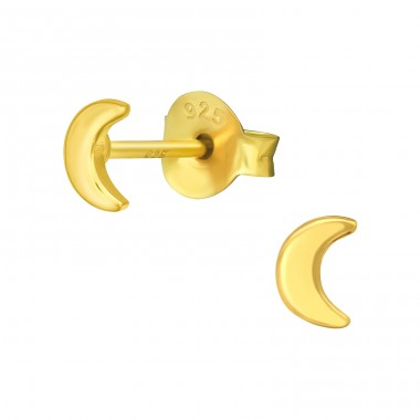 Golden Moon - 925 Sterling Silver Ear Studs For Kids A4S41161