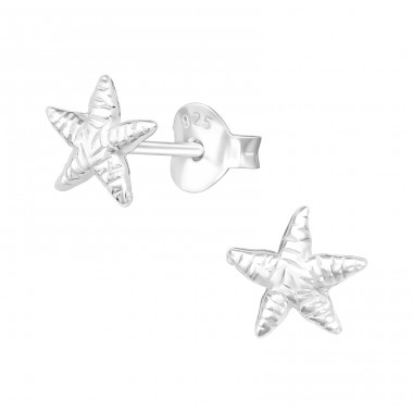 Starfish - 925 Sterling Silver Ear Studs without stones A4S9510