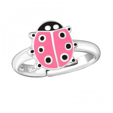 Ladybug - 925 Sterling Silver Rings for kids A4S1044