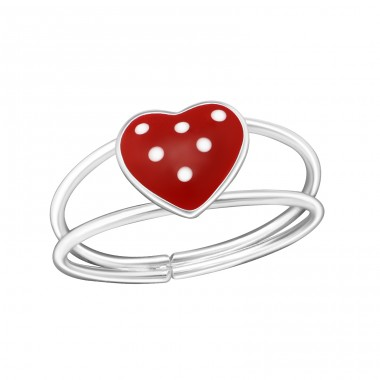 Heart - 925 Sterling Silver Rings for kids A4S1059