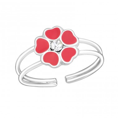 Flower - 925 Sterling Silver Rings for kids A4S1068