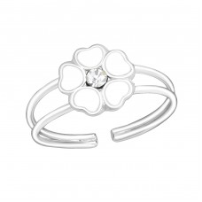 Flower - 925 Sterling Silver Rings for kids A4S1069
