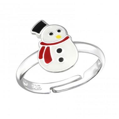 Snowman - 925 Sterling Silver Rings for kids A4S12001