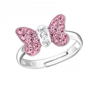 Butterfly - 925 Sterling Silver Rings for kids A4S12214