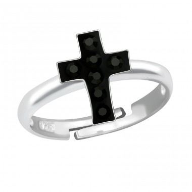 Cross - 925 Sterling Silver Rings for kids A4S12215