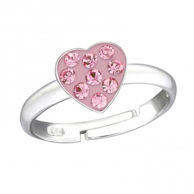 Heart - 925 Sterling Silver Rings for kids A4S12234