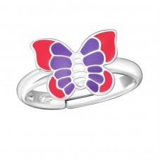 Butterfly - 925 Sterling Silver Rings for kids A4S12594