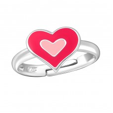 Heart - 925 Sterling Silver Rings for kids A4S12595