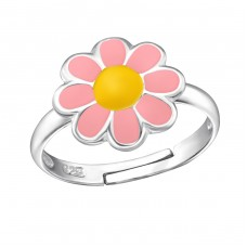 Flower - 925 Sterling Silver Rings for kids A4S13565