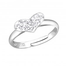 Heart - 925 Sterling Silver Rings for kids A4S15407