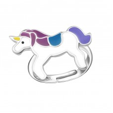 Unicorn - 925 Sterling Silver Rings for kids A4S18210
