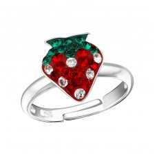 Strawberry - 925 Sterling Silver Rings for kids A4S18293