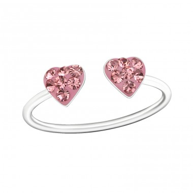 Double Heart - 925 Sterling Silver Rings for kids A4S18838