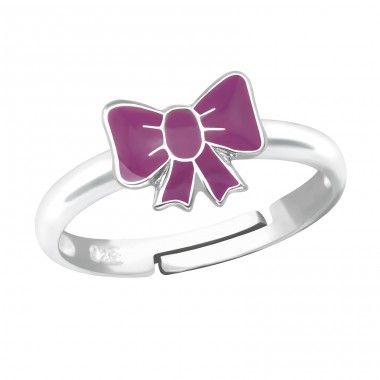 Bow - 925 Sterling Silver Rings for kids A4S19384