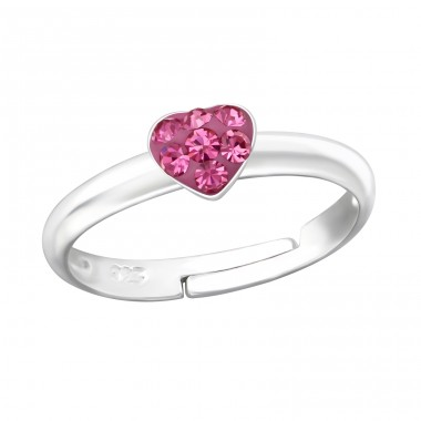 Heart - 925 Sterling Silver Rings for kids A4S19433