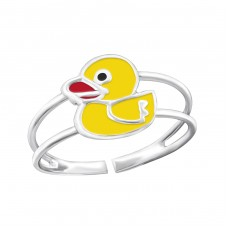 Duck - 925 Sterling Silver Rings for kids A4S20181