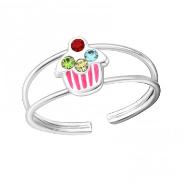 Cupcake - 925 Sterling Silver Rings for kids A4S20182