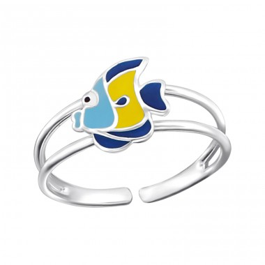 Fish - 925 Sterling Silver Rings for kids A4S20672