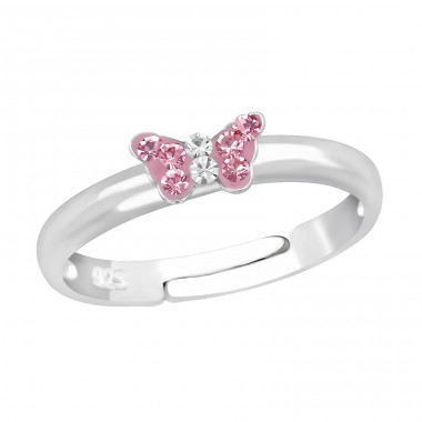 Butterfly - 925 Sterling Silver Rings For Kids A4S23474