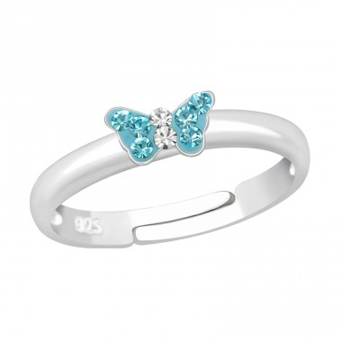 Small Butterfly - 925 Sterling Silver Rings for kids A4S23475