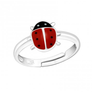 Ladybug - 925 Sterling Silver Rings for kids A4S23478