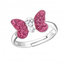 Butterfly - 925 Sterling Silver Rings for kids A4S24012