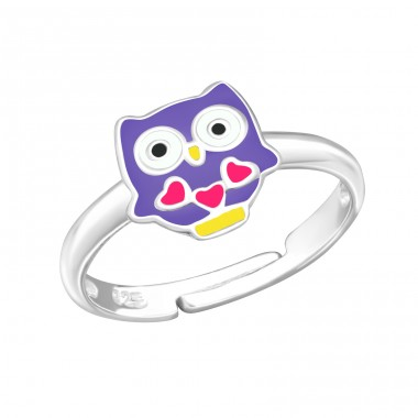 Owl - 925 Sterling Silver Rings for kids A4S24746