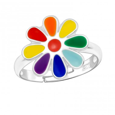 Flower - 925 Sterling Silver Rings for kids A4S27726