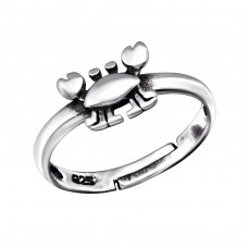 Crab - 925 Sterling Silver Rings for kids A4S28091