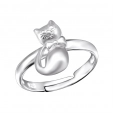 Cat - 925 Sterling Silver Rings for kids A4S28093