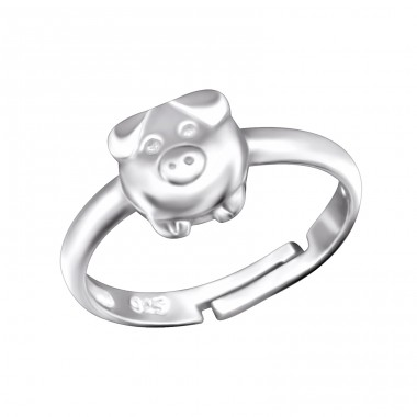 Pig - 925 Sterling Silver Rings for kids A4S28094