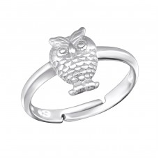 Owl - 925 Sterling Silver Rings for kids A4S28095