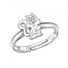 Squirrel - 925 Sterling Silver Rings for kids A4S28099