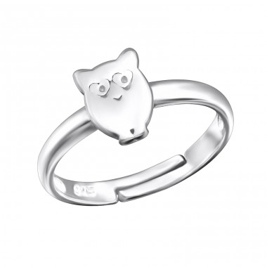 Owl - 925 Sterling Silver Rings for kids A4S28104