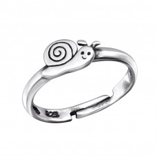 Snail - 925 Sterling Silver Rings For Kids A4S28106