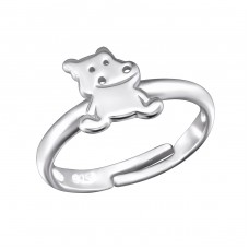 Hippopotamus - 925 Sterling Silver Rings for kids A4S28107