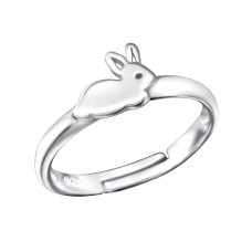 Rabbit - 925 Sterling Silver Rings for kids A4S28108
