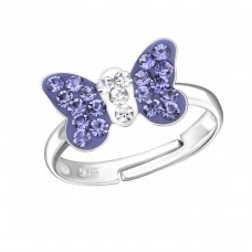 Butterfly - 925 Sterling Silver Rings for kids A4S28180