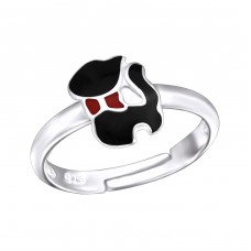 Cat - 925 Sterling Silver Rings for kids A4S28186