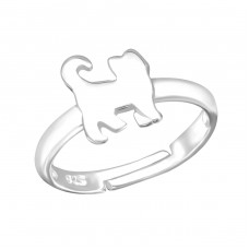 Cat - 925 Sterling Silver Rings for kids A4S28192