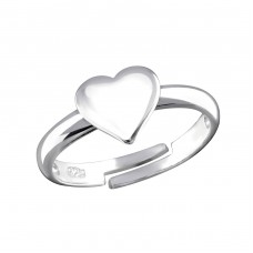 Heart - 925 Sterling Silver Rings For Kids A4S32489