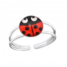Ladybug - 925 Sterling Silver Rings for kids A4S34916