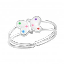 Butterfly - 925 Sterling Silver Rings for kids A4S35804