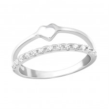Heart - 925 Sterling Silver Rings for kids A4S36556