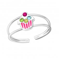 Cupcake - 925 Sterling Silver Rings for kids A4S37104