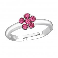 Flower - 925 Sterling Silver Rings for kids A4S37283