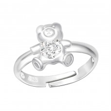 Bear - 925 Sterling Silver Rings for kids A4S37677