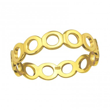 Circle Link gold plated - 925 Sterling Silver Rings For Kids A4S40276