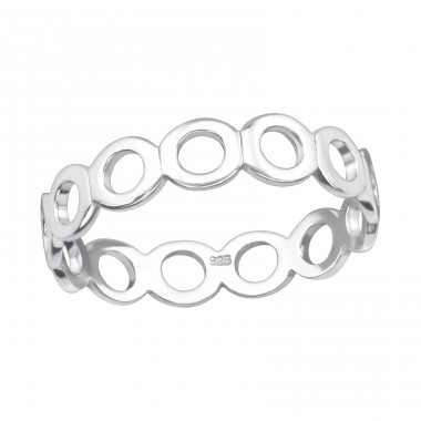 Circle Link - 925 Sterling Silver Rings for kids A4S40277