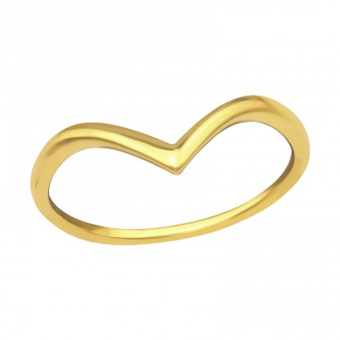 V Shaped gold plated - 925 Sterling Silver Rings For Kids A4S40279